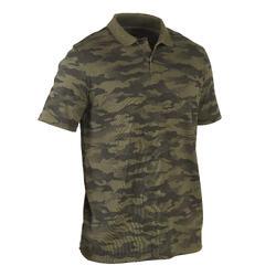 100 short-sleeved polo hunting shirt camouflage khaki