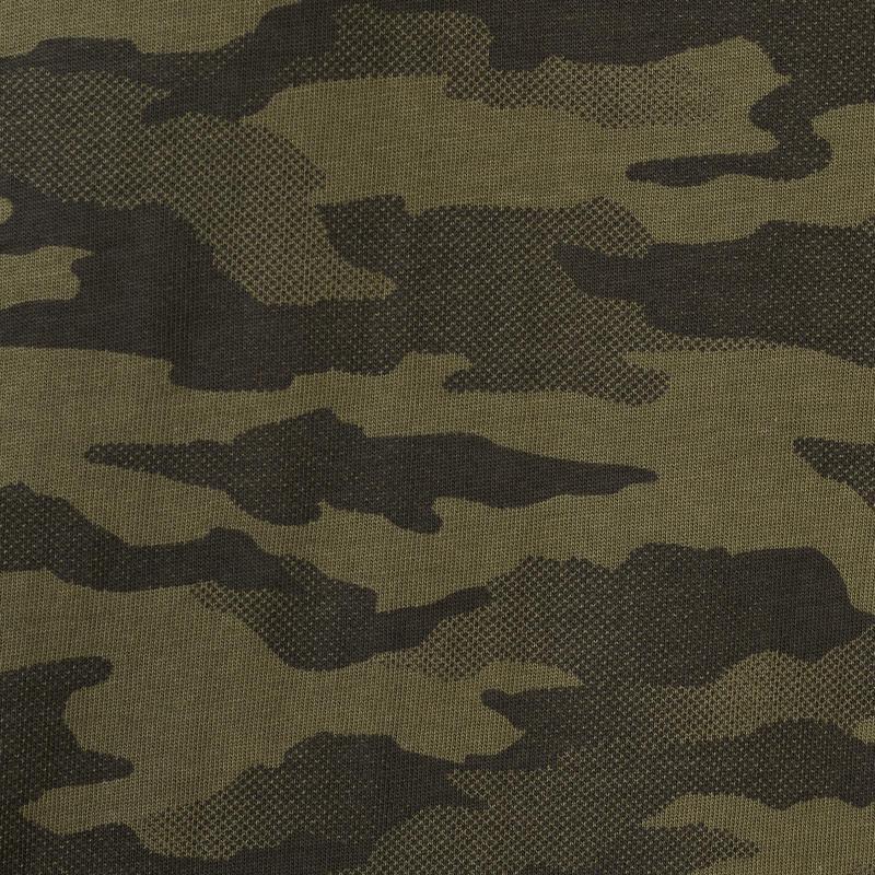 Polo manches courtes chasse 100 camouflage kaki