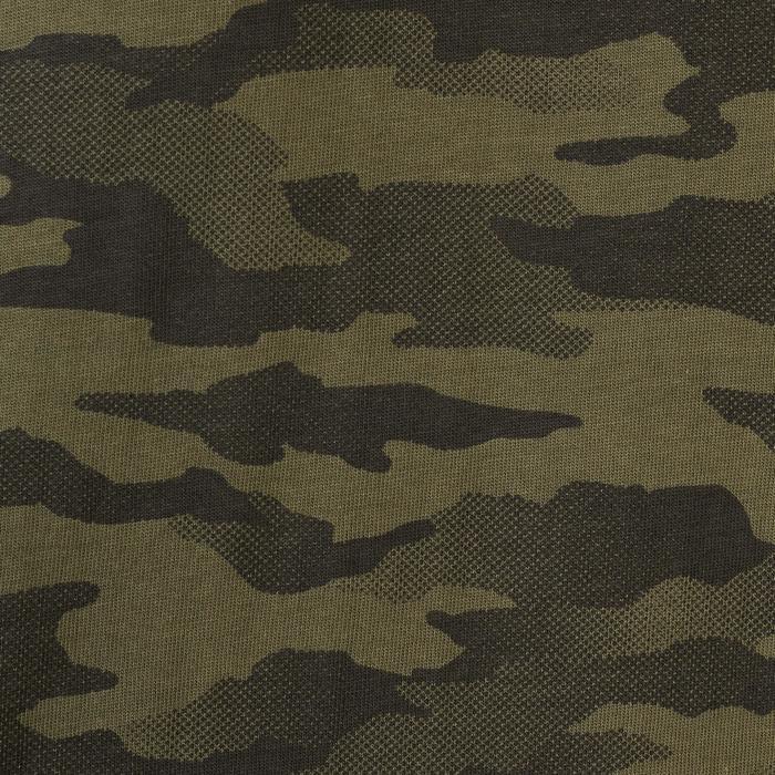Polo de caza 100 manga corta camuflaje