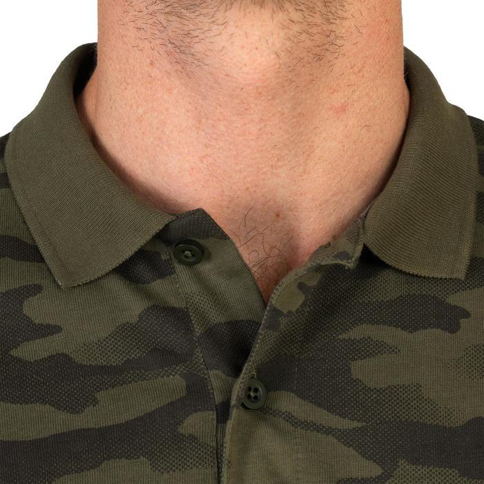 Polo 100 met korte mouwen voor de jacht camouflage
