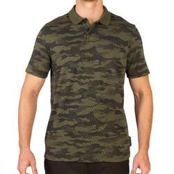 狩獵短袖Polo衫100-卡其色迷彩