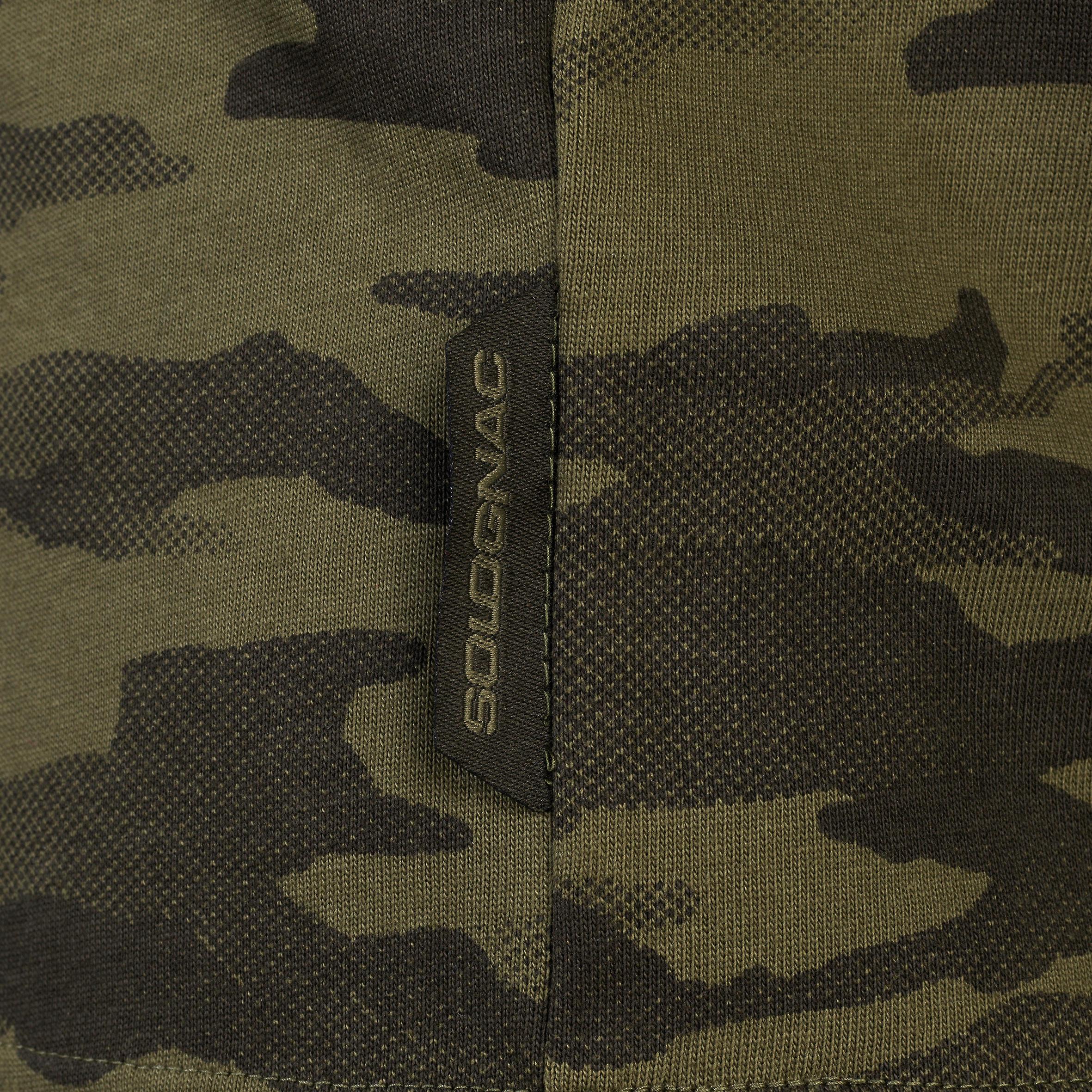 Men's Polo T-Shirt 100 Camouflage Khaki