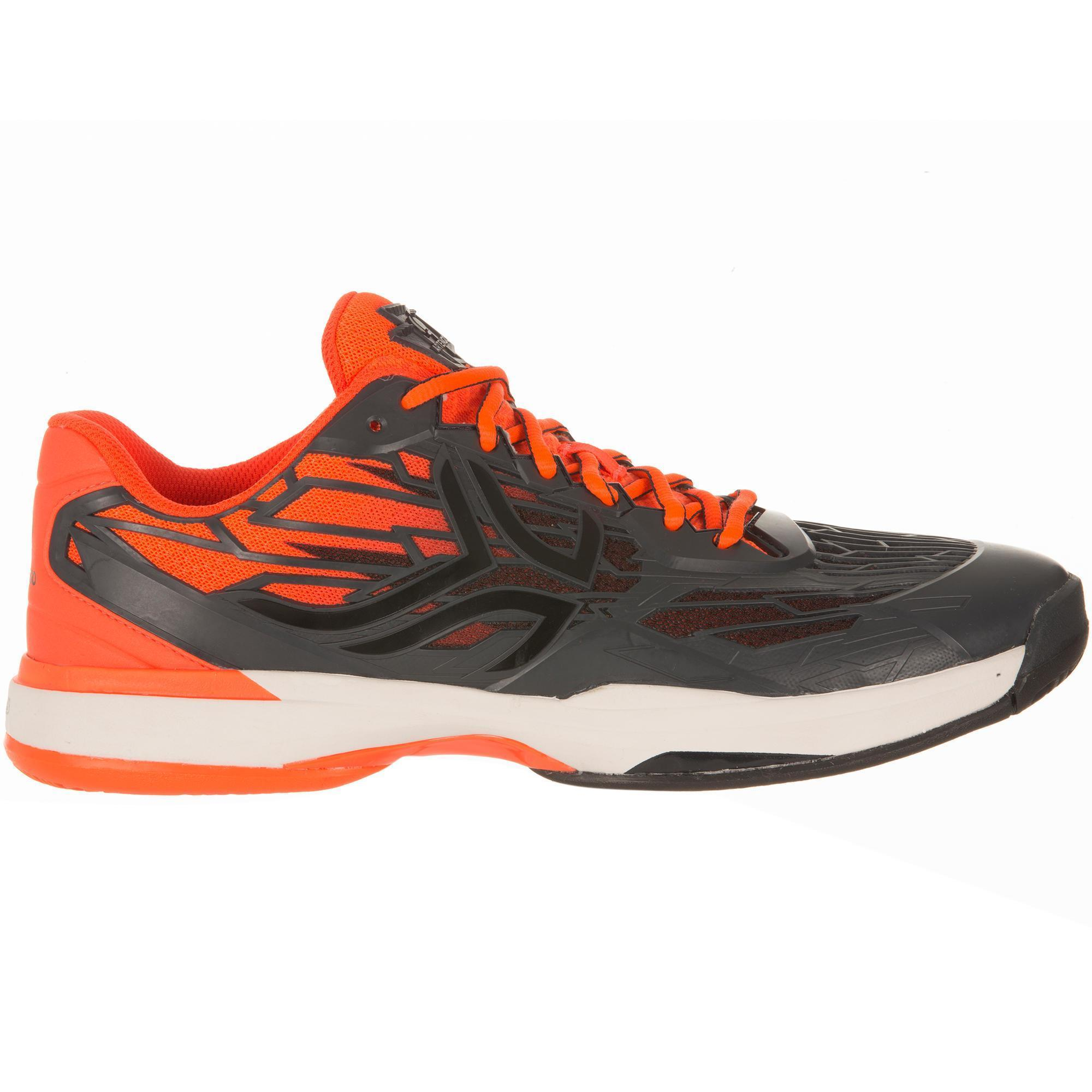 chaussures de tennis homme ts990 black orange artengo. Black Bedroom Furniture Sets. Home Design Ideas