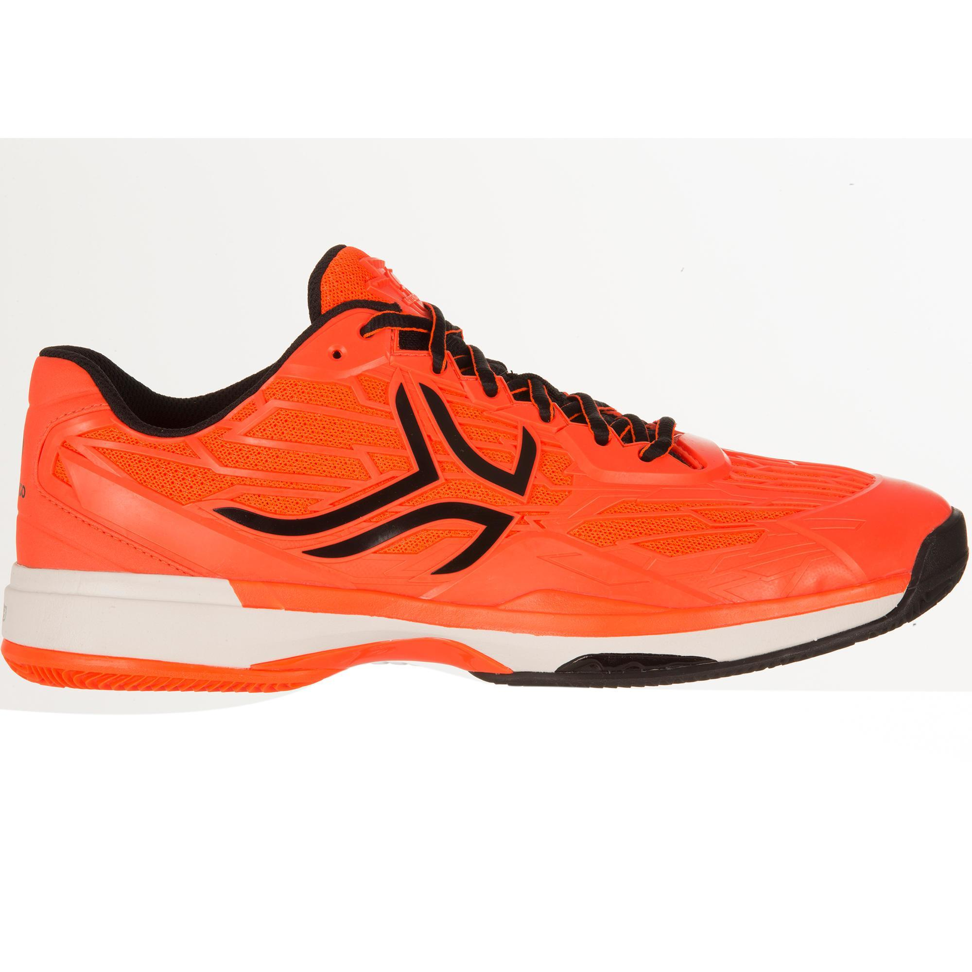 chaussures de tennis homme artengo ts990 terre battue orange fluo artengo. Black Bedroom Furniture Sets. Home Design Ideas
