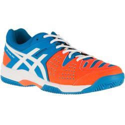 Padelschoenen voor dames Pro 3 SG Diva blauw/wit/oranje