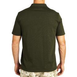 100 Short Sleeve Hunting Polo Shirt - Brown