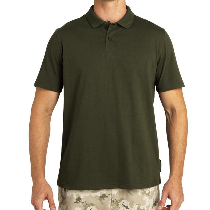 100 short sleeve hunting polo green