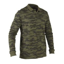 100 long sleeved polo shirt camouflage