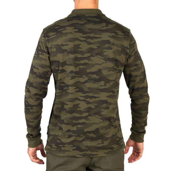 Langarm-Poloshirt 100 Jagd Camouflage