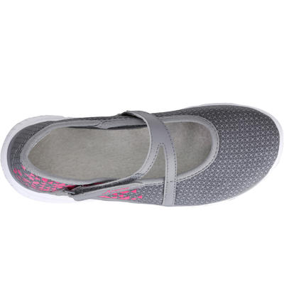 Kids' walking pumps grey/pink