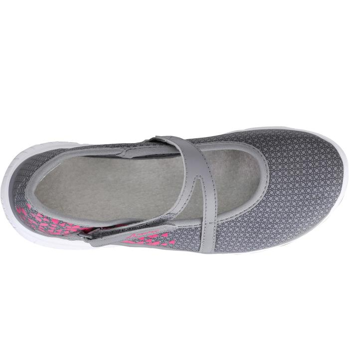 Walkingschuhe Ballerinas Kinder grau/rosa