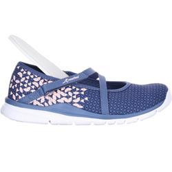 Zapatillas de marcha para niñas bailarinas azules marino / rosas