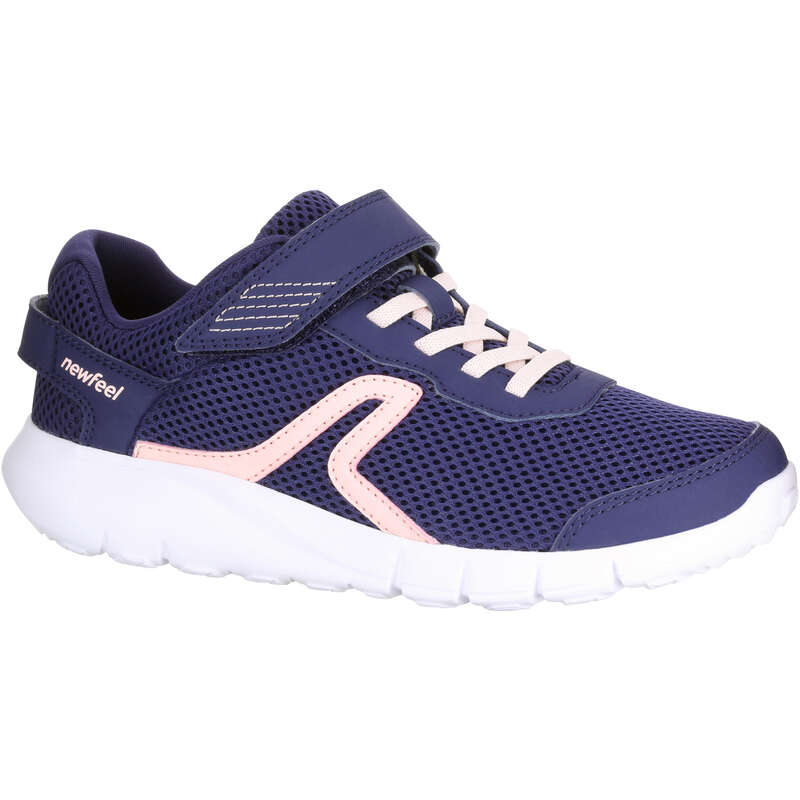 JUNIOR SPORT WALKING SHOES Hiking - Soft 140 Fresh Navy/Coral NEWFEEL - Outdoor Shoes