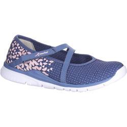 Zapatillas de marcha deportiva para niñas bailarinas azul marino / rosa