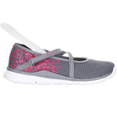 حذاء باليرينا للأطفال للمشي الرياضي - رمادي / وردي