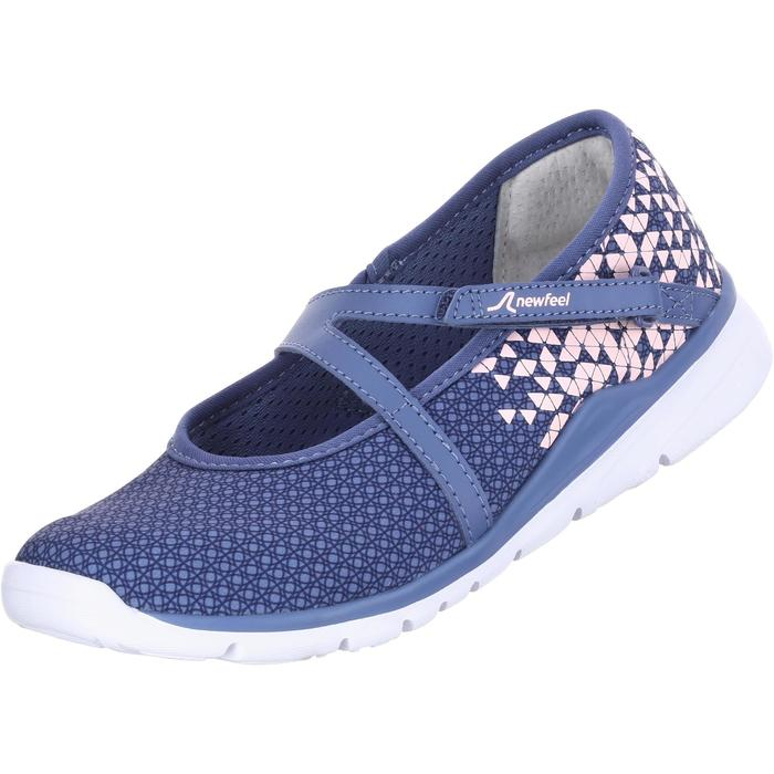 Children's Fitness Walking Ballerina Pumps - Navy/Pink