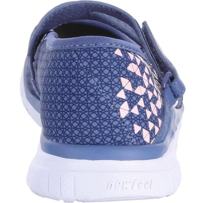 兒童款健走芭雷舞平底鞋-軍藍色/粉紅色