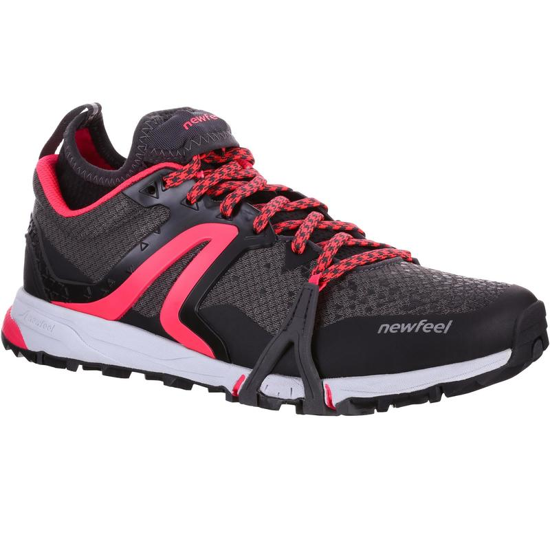 Dámská obuv na nordic walking NW900 Flex-H černo-růžová