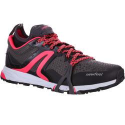 Nordic Walking-Schuhe NW 900 Damen schwarz/koralle