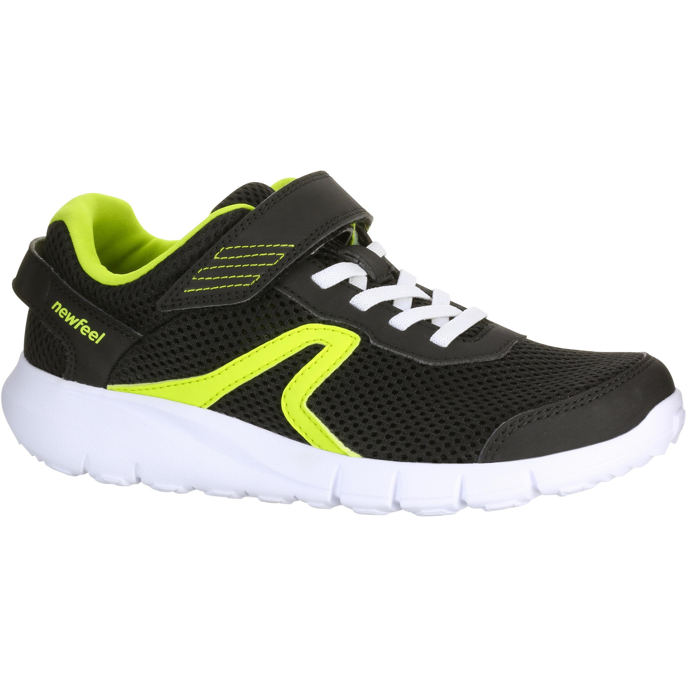 Chaussures marche enfant soft 140 fresh noir jaune newfeel