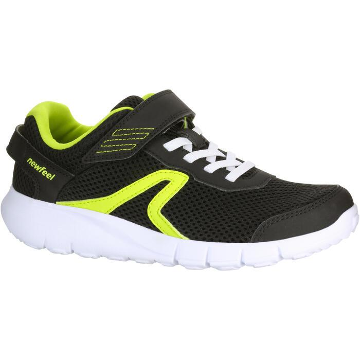 Zapatillas de Marcha Deportiva Newfeel Soft 140 Fresh niño negro y verde