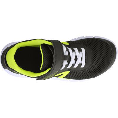 נעלי הליכה ספורטיביות נושמות לילדים דגם Soft 140 Fresh - שחור/צהוב
