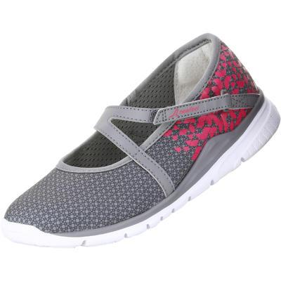Chaussures marche enfant ballerine gris / rose