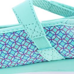 兒童款船型健走鞋-淺碧藍色