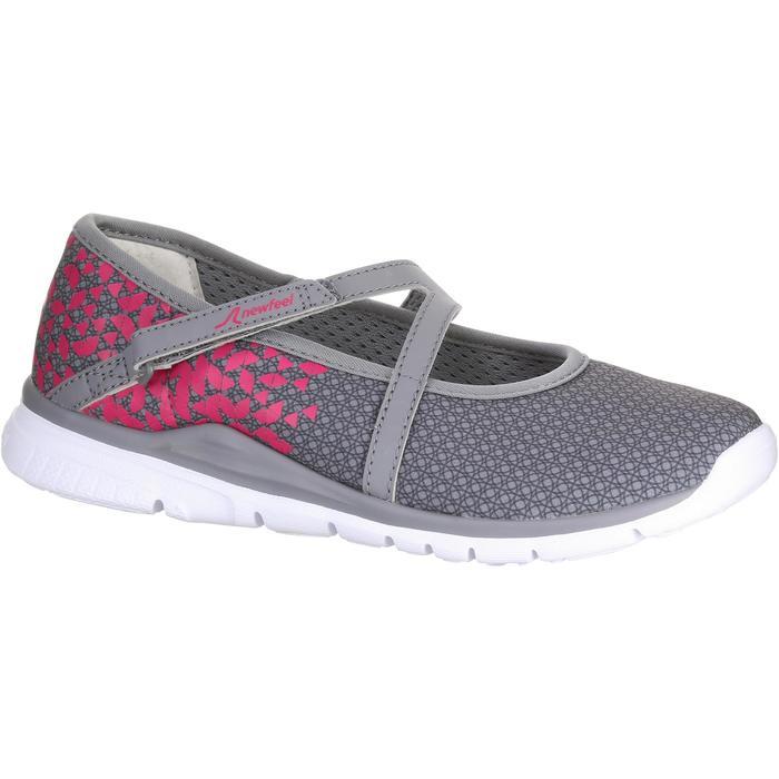 Chaussures marche sportive enfant ballerine gris / rose