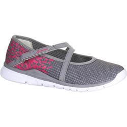 Zapatillas de marcha para niñas bailarinas gris/rosa