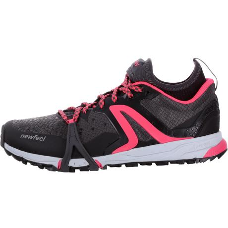 chaussures marche nordique femme nordic walk 900 noir rose newfeel. Black Bedroom Furniture Sets. Home Design Ideas
