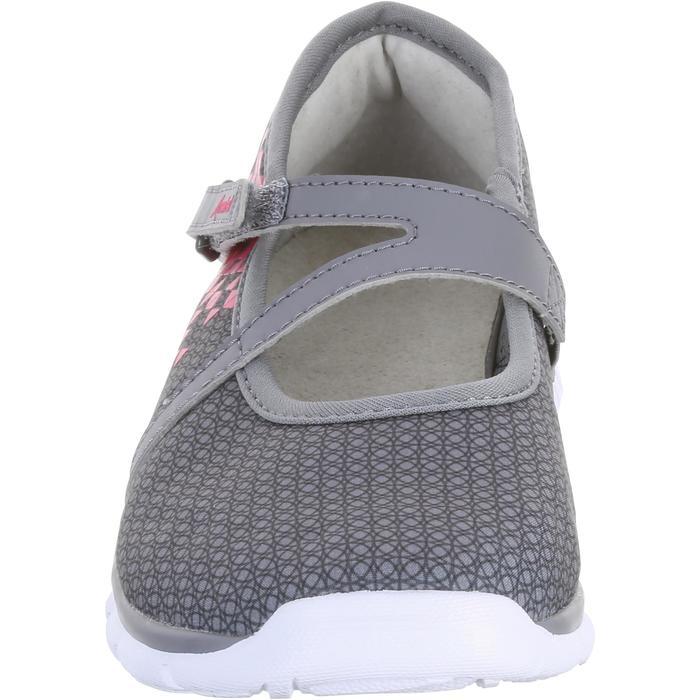 Zapatillas de marcha deportiva para niñas bailarinas gris / rosa