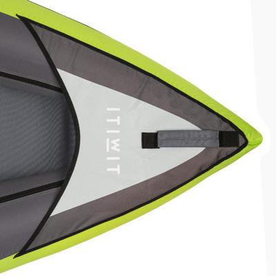Kayak inflable De Travesía 1/2 puestos canotaje Itiwit verde