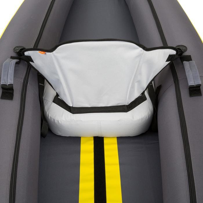 Kajak aufblasbar 1-Sitzer gelb