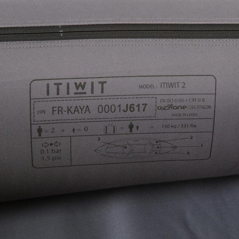 INFLATABLE CRUISING KAYAK 1/2 PLACES GREEN