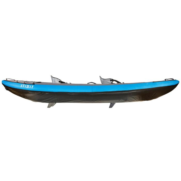Kajak aufblasbar Touring 1/2-Sitzer blau