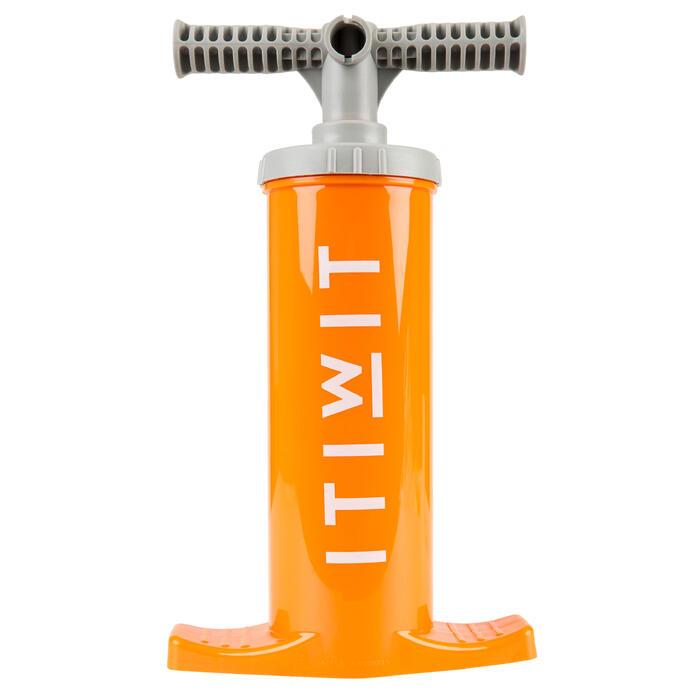 Handpumpe Doppelhub Kajak 2 × 1,4l orange