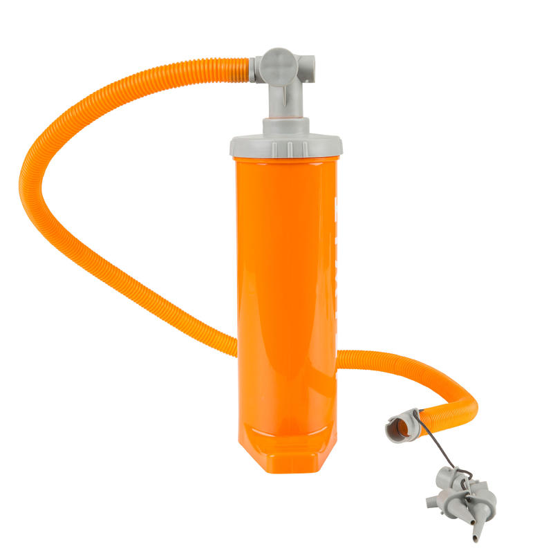 DOUBLE ACTION KAYAK HAND PUMP 2 X 1.4L ORANGE