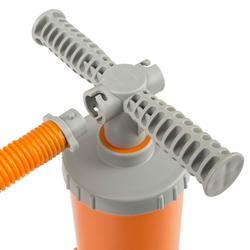 Handpomp met dubbele werking voor kajak 2 x 1,4 l oranje