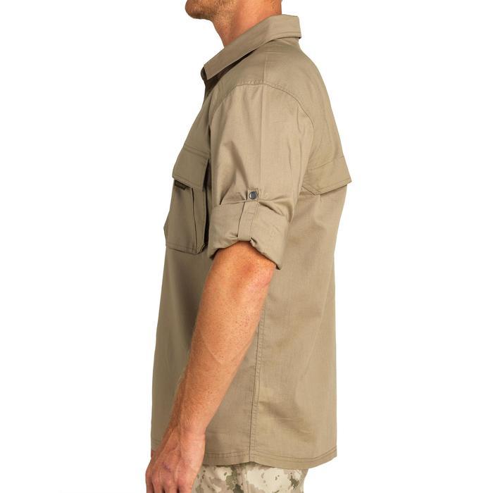 Jagdhemd T500 Langarm beige