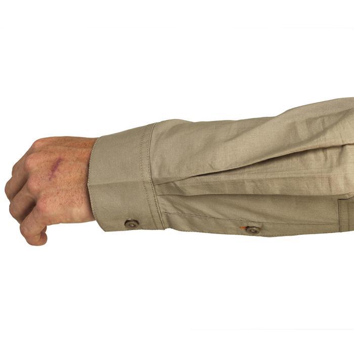 Chemise 500 marron manches longues - 1064519