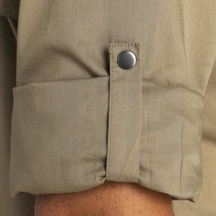 Chemise manches longues légère chasse 500 marron