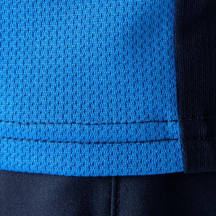 Maillot de football manches longues enfant F500  bleu foncé bleu clair - 1064870