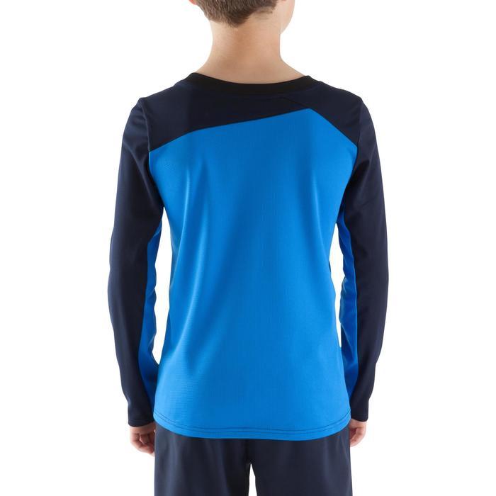 Maillot de football manches longues enfant F500  bleu foncé bleu clair - 1064871