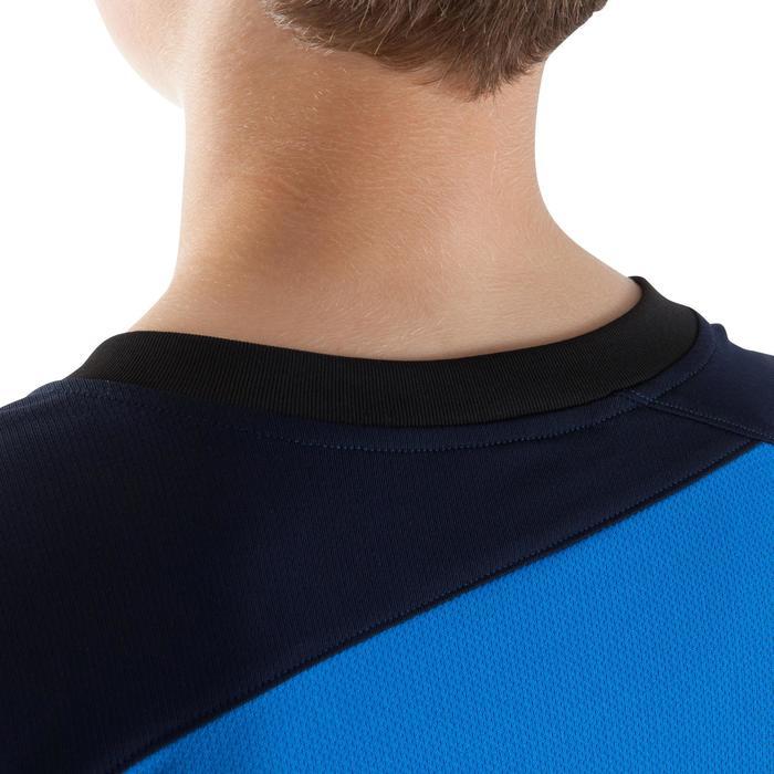 Maillot de football manches longues enfant F500  bleu foncé bleu clair - 1064875