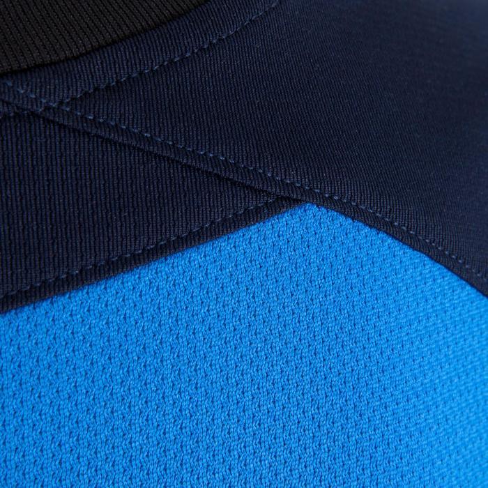 Maillot de football manches longues enfant F500  bleu foncé bleu clair - 1064877