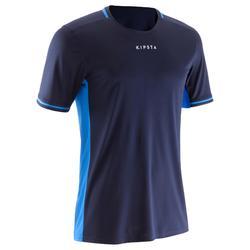 成人足球運動衫 F500-海軍藍/亮藍