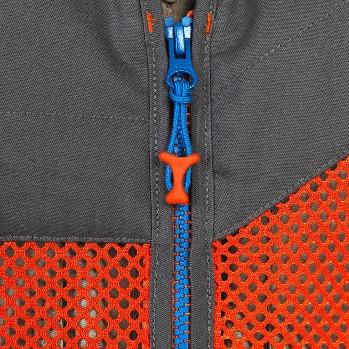 GILET BALL TRAP 100 LIGHT ORANGE GRIS