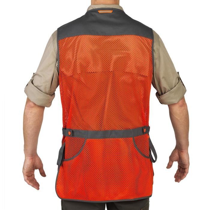 GILET BALL TRAP 100 ORANGE GRIS