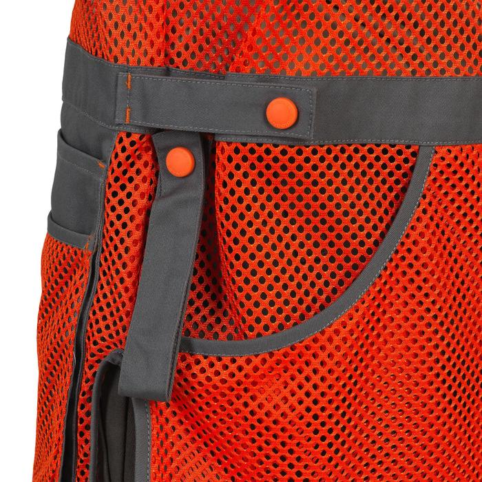 GILET BALL TRAP 100 ORANGE GRIS - 1064894